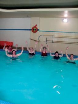 Aquafit classes led by Linda DeHaan, front, help St. Clair O'Connor residents Norman Tom, Janet Grant, Pat Cavanagh, Pat Murray and John Harpen stay active