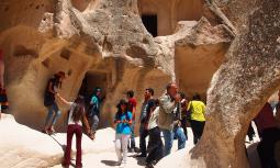 The Goreme open air museum near Cappadocia, Turkey, includes rock-cut chapels that are part of an ancient Byzantine monastic settlement. A group of Ontario Mennonites visited the site in May as part of an intercultural learning tour.