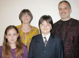 The Frey Yoder family, from left to right: Deborah, Nancy, Jeremiah and Bruce.
