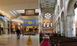 Friesen says that a modern mall has similarities to a cathedral—it is a secular cathedral with rituals and liturgies.