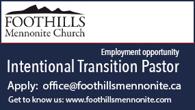 Foothills Mennonite Church employment
