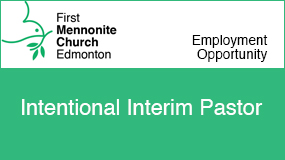 First Menno. Church Edmonton employment ad