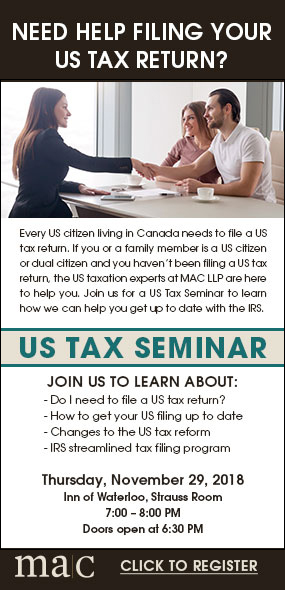 MAC ad US tax returns seminar