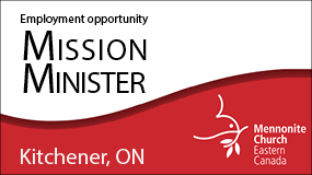 MCEC Mission Minister employment ad