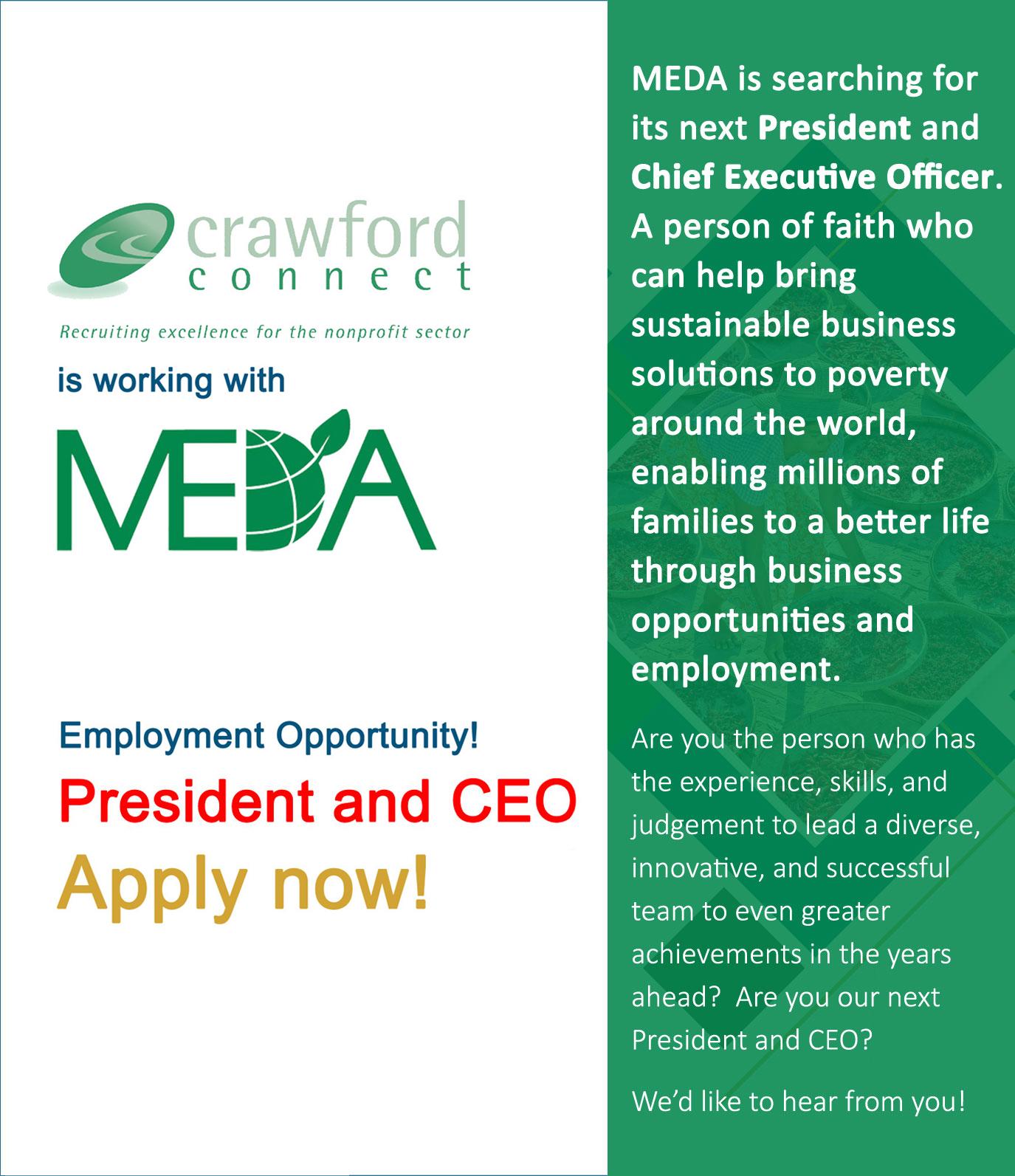 MEDA employment ad