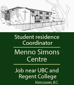 Menno Simons Centre employment ad