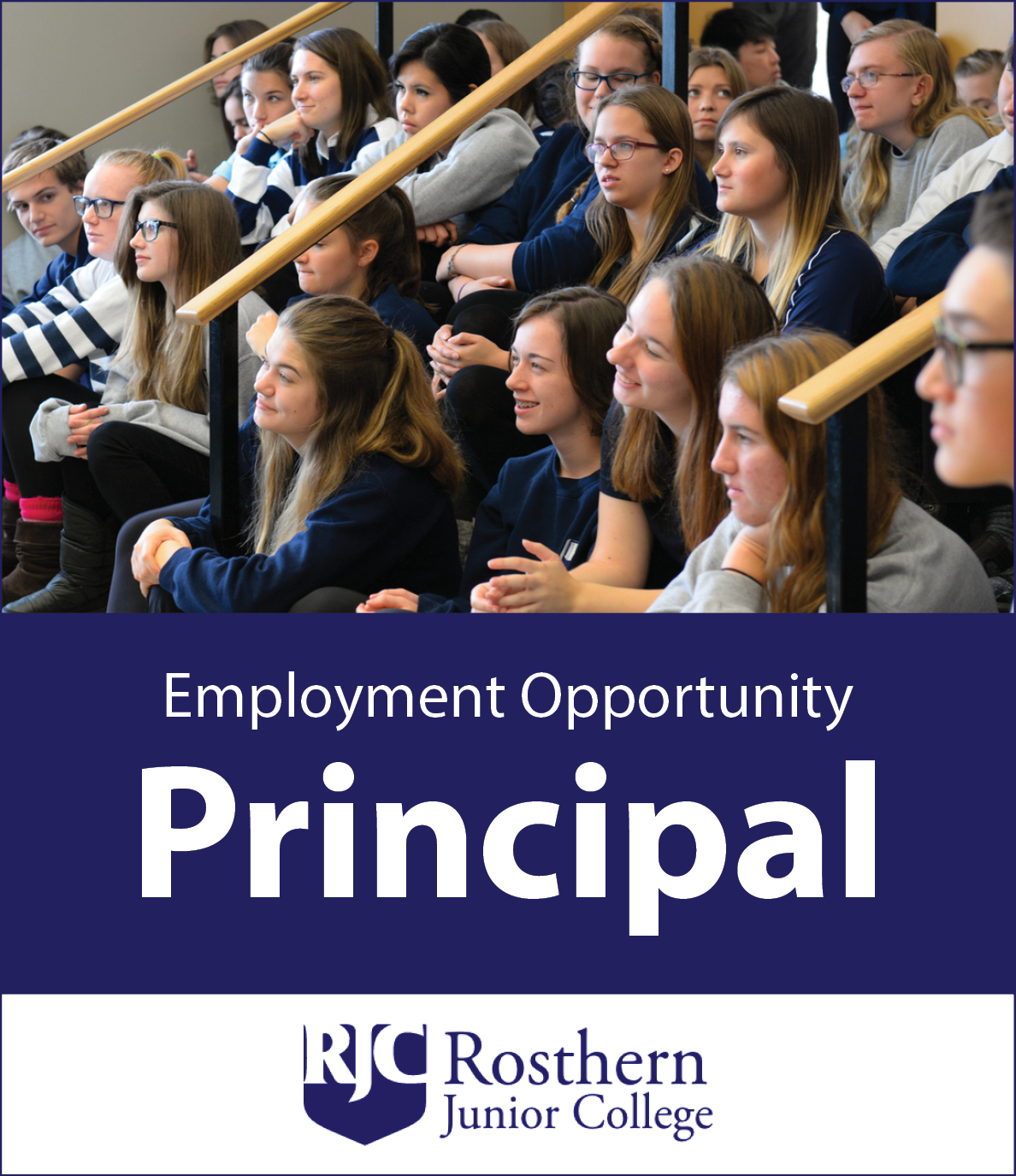 RJC employment ad for principal