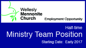 Employment opportunity Wellesly Mennonite Church