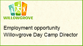 Willowgrove day camp employment opportunity