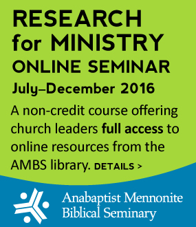 AMBS research  ministry