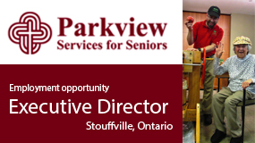 Employment ad for Parkview Senior Services